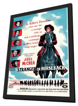 Stranger on Horseback - 11 x 17 Movie Poster - UK Style A - in Deluxe Wood Frame