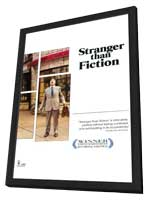 Stranger Than Fiction - 11 x 17 Movie Poster - Style B - in Deluxe Wood Frame