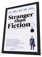 Stranger Than Fiction - 27 x 40 Movie Poster - Style A - in Deluxe Wood Frame