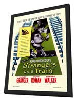 Strangers on a Train - 11 x 17 Movie Poster - Style A - in Deluxe Wood Frame