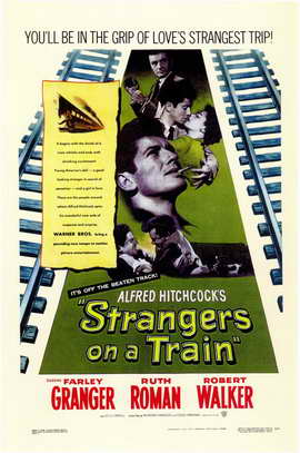 Strangers on a Train - 11 x 17 Movie Poster - Style A