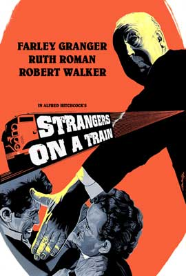 Strangers on a Train - 27 x 40 Movie Poster - Style G