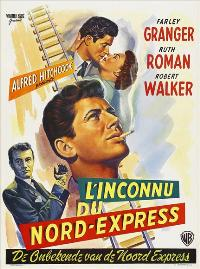 Strangers on a Train - 11 x 17 Movie Poster - Belgian Style A