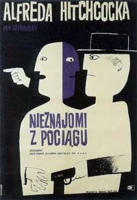 Strangers on a Train - 11 x 17 Movie Poster - Polish Style A