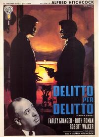 Strangers on a Train - 27 x 40 Movie Poster - Italian Style B