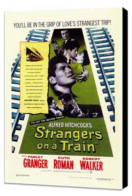 Strangers on a Train - 11 x 17 Movie Poster - Style A - Museum Wrapped Canvas
