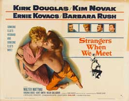 Strangers When We Meet - 11 x 14 Movie Poster - Style B