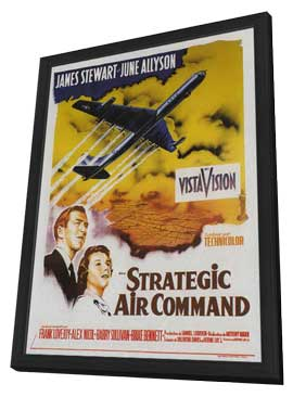 Strategic Air Command - 11 x 17 Movie Poster - French Style A - in Deluxe Wood Frame