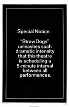 Straw Dogs - 27 x 40 Movie Poster - Style A