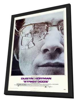 Straw Dogs - 27 x 40 Movie Poster - Style B - in Deluxe Wood Frame