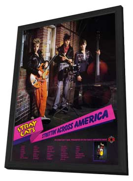 Stray Cats - 11 x 17 Music Poster - Style A - in Deluxe Wood Frame