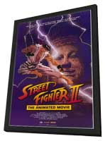 Street Fighter II Movie - 11 x 17 Movie Poster - Style A - in Deluxe Wood Frame