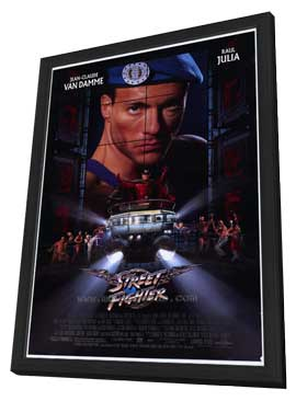 Street Fighter - 27 x 40 Movie Poster - Style A - in Deluxe Wood Frame