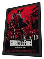 Streets of Fire - 27 x 40 Movie Poster - Style C - in Deluxe Wood Frame