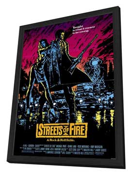 Streets of Fire - 27 x 40 Movie Poster - Style A - in Deluxe Wood Frame