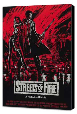 Streets of Fire - 27 x 40 Movie Poster - Style C - Museum Wrapped Canvas