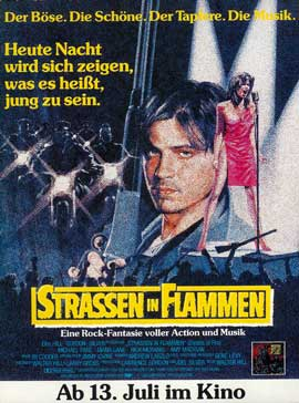 Streets of Fire - 27 x 40 Movie Poster - German Style A