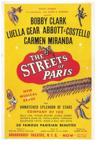 Streets Of Paris, The (Broadway) - 11 x 17 Poster - Style A