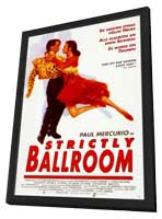 Strictly Ballroom - 11 x 17 Movie Poster - German Style A - in Deluxe Wood Frame