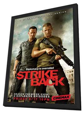 Strike Back (TV) - 27 x 40 TV Poster - Style A - in Deluxe Wood Frame