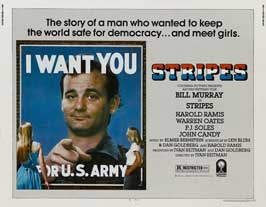 Stripes - 22 x 28 Movie Poster - Half Sheet Style A