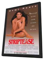 Striptease - 11 x 17 Movie Poster - Style A - in Deluxe Wood Frame
