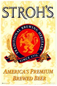 Stroh's Beer - Party/College Poster - 24 x 36 - Style A
