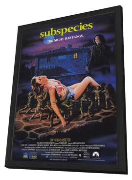 Subspecies - 27 x 40 Movie Poster - Style A - in Deluxe Wood Frame