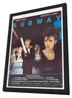 Subway - 11 x 17 Movie Poster - Belgian Style A - in Deluxe Wood Frame