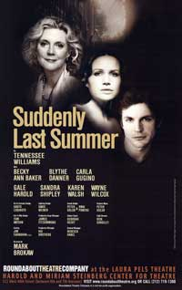 Suddenly Last Summer (Broadway) - 27 x 40 Poster - Style A
