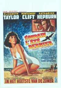 Suddenly, Last Summer - 14 x 22 Movie Poster - Belgian Style A