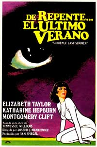 Suddenly, Last Summer - 27 x 40 Movie Poster - Spanish Style A