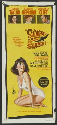 Suddenly, Last Summer - 13 x 30 Movie Poster - Australian Style A