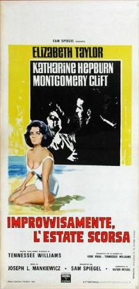 Suddenly, Last Summer - 13 x 28 Movie Poster - Italian Style A