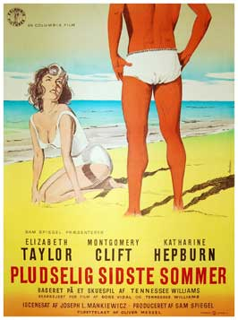 Suddenly, Last Summer - 11 x 17 Movie Poster - Danish Style A