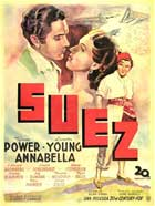Suez - 11 x 17 Movie Poster - Spanish Style A