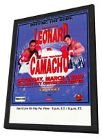 Sugar Ray Leonard vs. Hector Camacho - 11 x 17 Boxing Promo Poster - Style A - in Deluxe Wood Frame