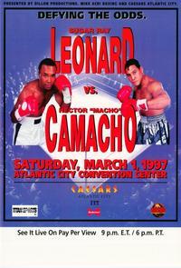 Sugar Ray Leonard vs. Hector Camacho - 11 x 17 Boxing Promo Poster - Style A