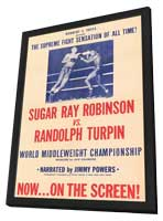 Sugar Ray Robinson vs. Randolph Turpin - 11 x 17 Movie Poster - Style A - in Deluxe Wood Frame