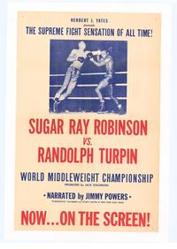 Sugar Ray Robinson vs. Randolph Turpin - 27 x 40 Movie Poster - Style A