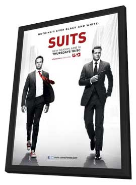 Suits (TV) - 11 x 17 TV Poster - Style A - in Deluxe Wood Frame