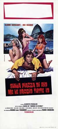Sulla Piazza di Rio me le Faccio Tutte io - 13 x 28 Movie Poster - Italian Style A
