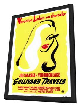Sullivan's Travels - 27 x 40 Movie Poster - Style B - in Deluxe Wood Frame