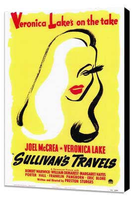 Sullivan's Travels - 27 x 40 Movie Poster - Style B - Museum Wrapped Canvas