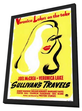Sullivan's Travels - 11 x 17 Movie Poster - Style B - in Deluxe Wood Frame