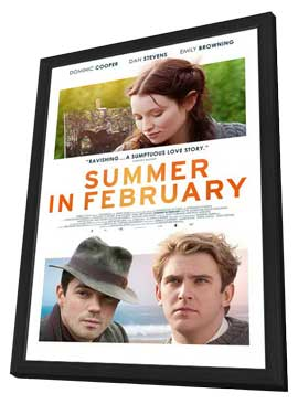 Summer in February - 27 x 40 Movie Poster - Style A - in Deluxe Wood Frame