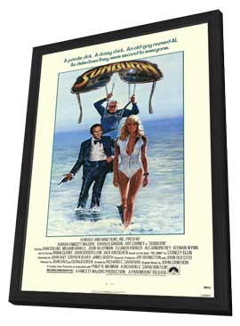 Sunburn - 11 x 17 Movie Poster - Style A - in Deluxe Wood Frame