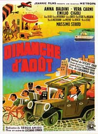 Sunday in August - 11 x 17 Movie Poster - French Style A