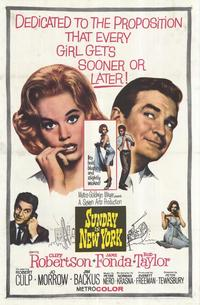 Sunday in New York - 11 x 17 Movie Poster - Style A