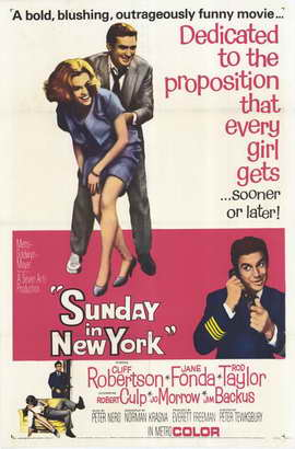 Sunday in New York - 11 x 17 Movie Poster - Style B